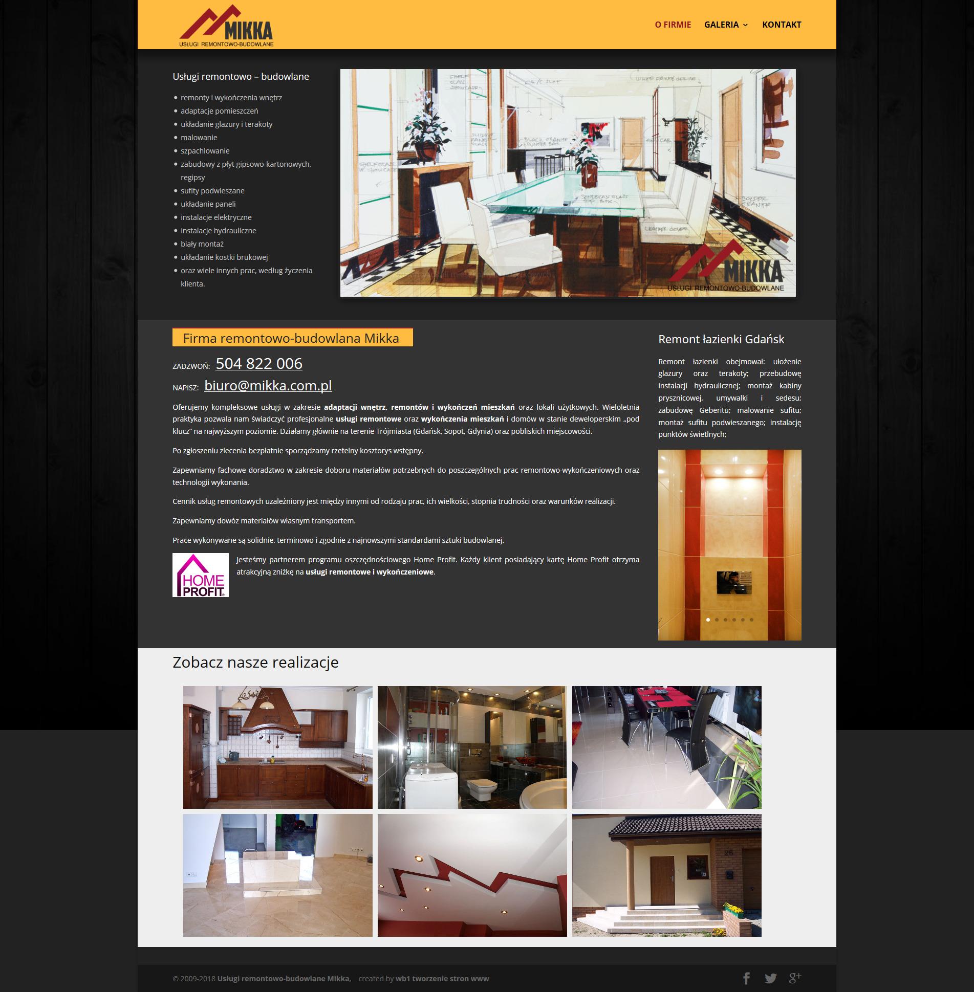 Strona internetowa Usługi remontowe